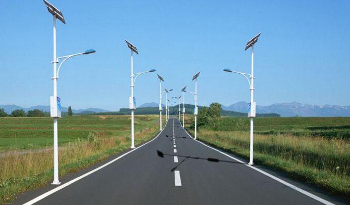 朗越能源认为比普通路灯更值得选择的是太阳能路灯型钢